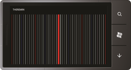 Theremin app for Windows Phone